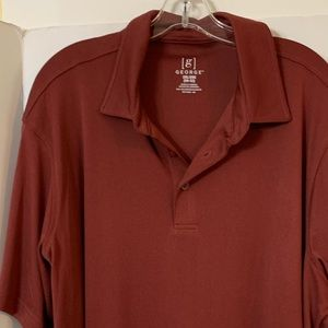 Men's XXL rust colored golf shirt
